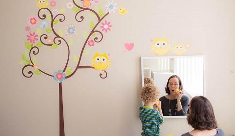 Child with speech therapist