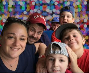 A image of the family from the article Raising an autistic child