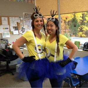 Allison Leach and Jessica Shin, our preschool staff