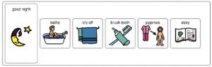 behaviour examples routine schedule